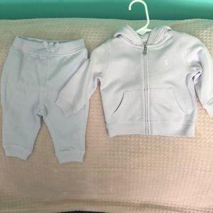 Ralph Lauren pants and hoodie set (3/6 m)